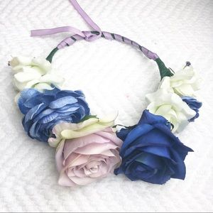 Other - Kenzie Jaws Blue White Flower Crown 6m to Adult